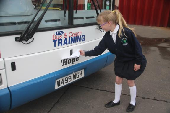 Amy unveils training bus name