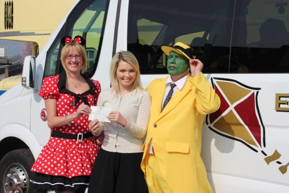 Wacky Wardrobe Day cheque presentation April 2015