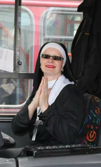 Nun driving bus cropped